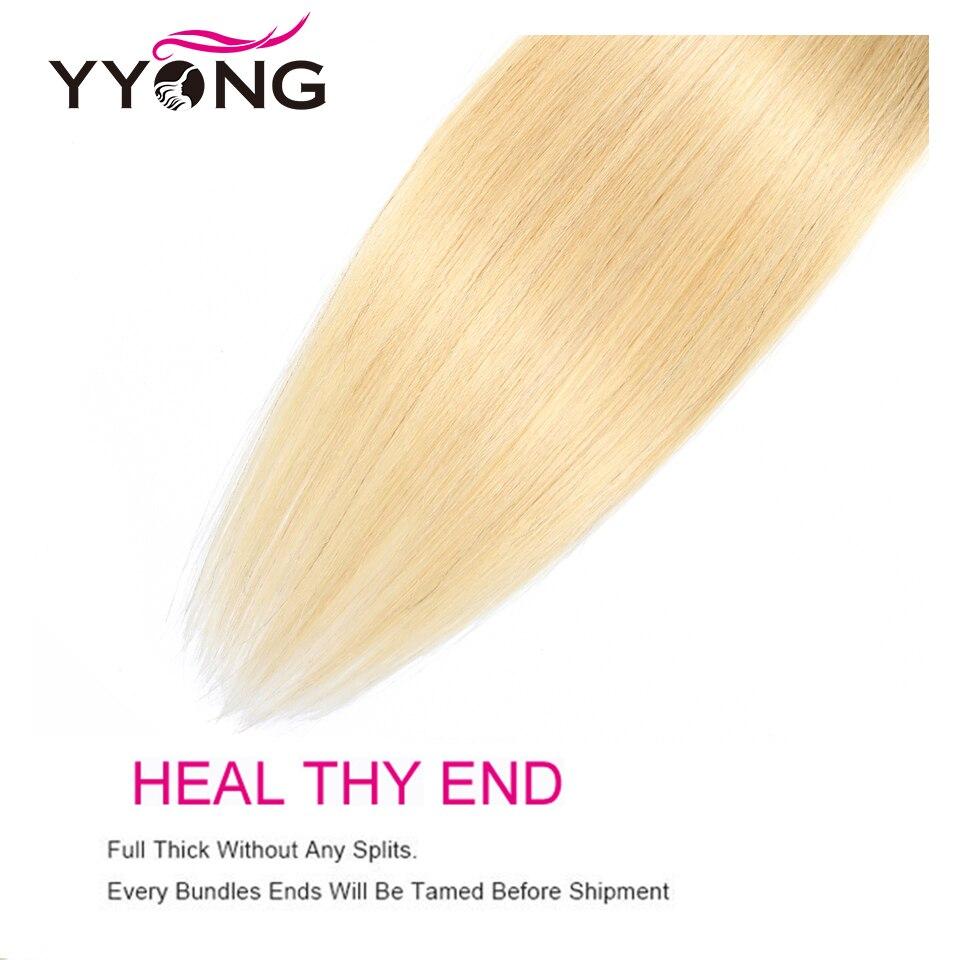 YYong  Striaght 613 Blonde Bundles 1/3/4 Bundles 100g Honey Blond Hair   Blond  Bundles 12-24 Inch 6