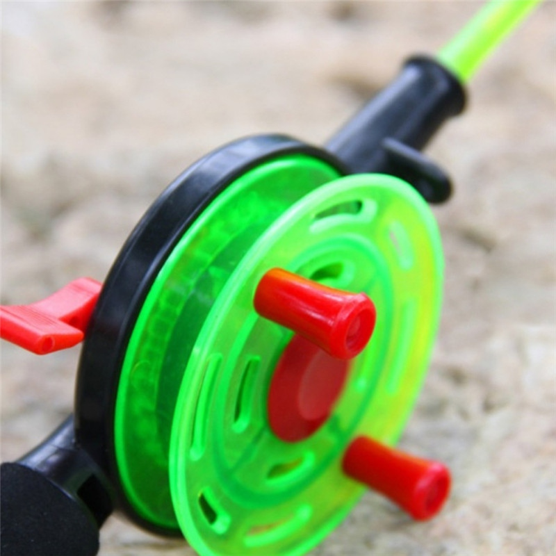 Outdoor Winter Mini Telescopic Carbon Lightweight Ice Fishing Rod With Fishing Reel Fishing Tackle Tool