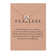 1PC Fashion Choker Necklaces Gold Color Plated Skull Simple Collar Necklace Women Jewelry Gifts