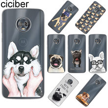 ciciber For Motorola Moto C Z2 Z3 ONE P30 G4 G5 G5S G6 E4 E5 Play Plus Power M X4 Soft TPU Phone Cases Cute Funny Pug Dog Fundas(China)