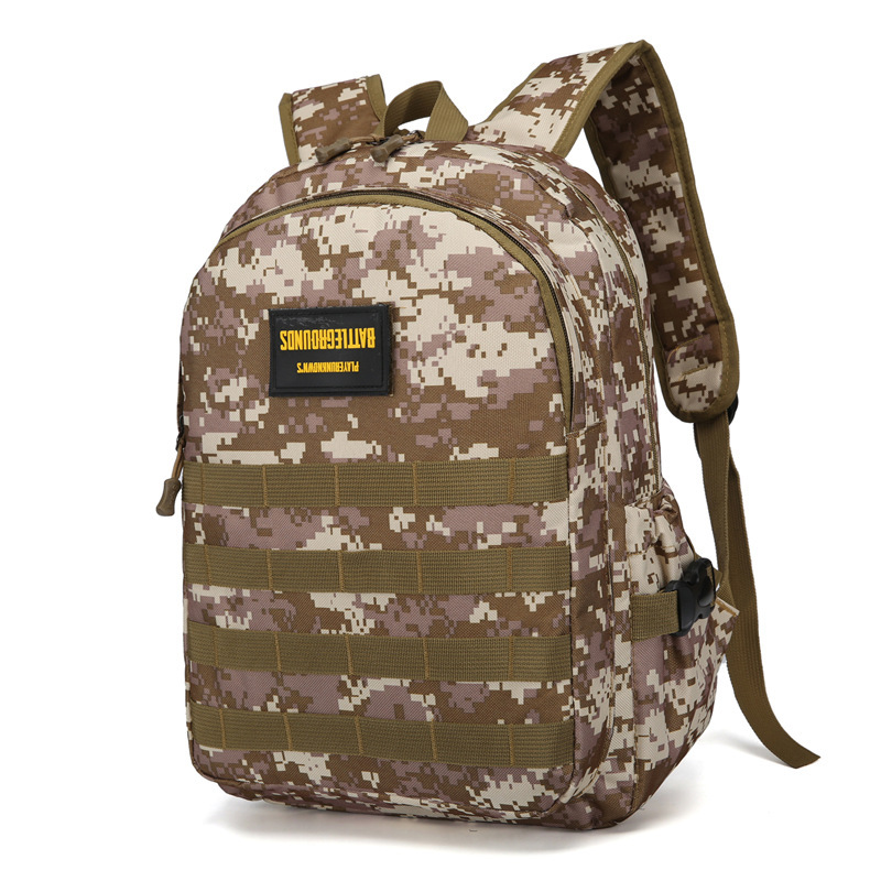 Camouflage Backpack Large Capacity Schoolbag Level Three Bag Jedi Survival Celebrity Style Chicken Oxford Cloth Backpack