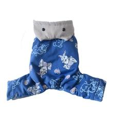Coat Winter Jumpuit Print Warm Dog 5-Sizes 3-Colours Hoodie Dog-Pet Cartoon