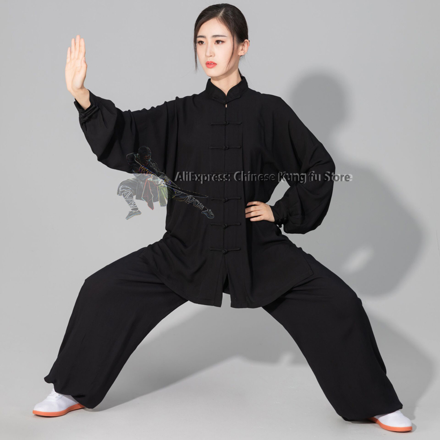 Women's Men's Soft Cotton Tai Chi Suit Kung Fu Wushu Martial Arts Uniform Wing Chun Jacket Pants