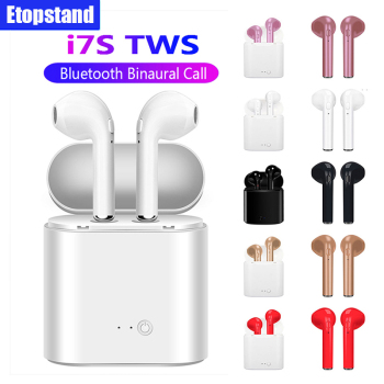Bluetooth Earphone I7s TWS Headphones Wireless Earphones With Mic Charging Pods Headset for iPhone Xiaomi Samsung Huawei Phone