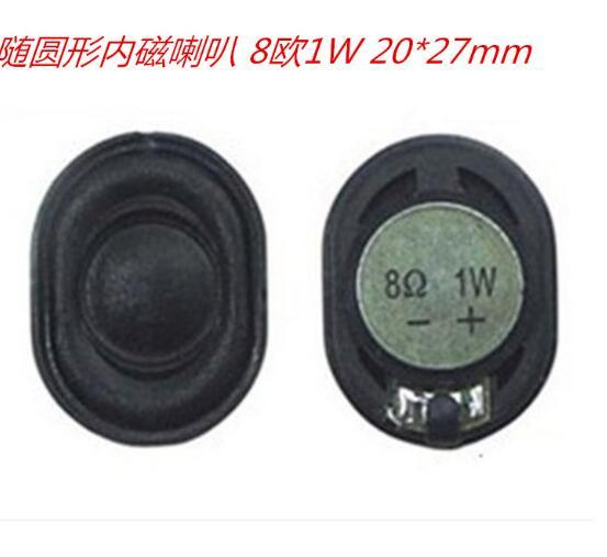 10 pcs lote 2027 ohm orador 8 eliptico magnetico interno 1w 20 27mm para navegador gps
