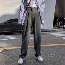 Women Suit Pants Spring Office Lady Long Trousers 2020 New Autumn Solid Loose High Waist Pant Vestodo Female Pants Plus Size