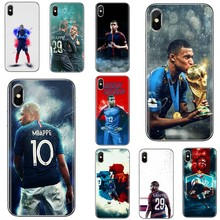 Silicone Skin Case For Xiaomi Mi A1 A2 A3 5X 6X 8 9 9t Lite SE Pro Mi Max Mix 1 2 3 2S France Football Star Kylian Mbappe(China)