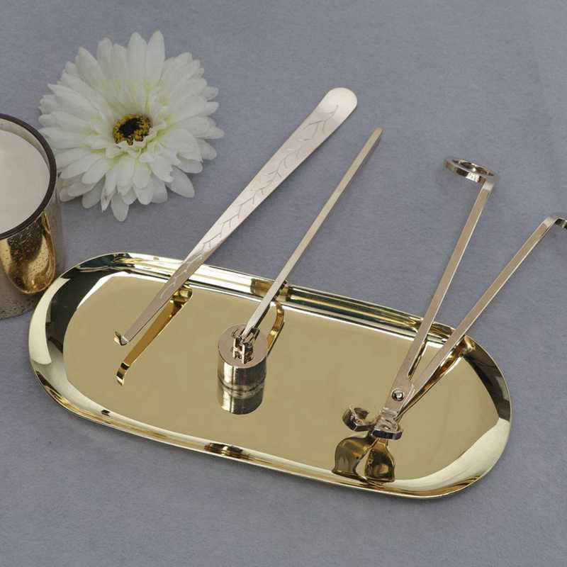 Silver MagiDeal Stainless Steel Candle Tools Candle Wick Trimmer Snuffer Dipper Storage Tray Holder