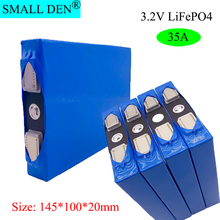 1-4PCS 3.2V 35Ah LiFePO4 pool group large capacity solar storage power supply Motorcycle battery modification + turn nickel