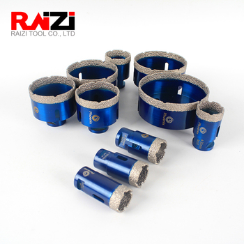 Raizi 1 Pc Diamond Hole Saw Drill Bits For Porcelain Ceramic Tile Marble Granite 20-125 mm Tile hole cutter tools dt diatool 2pcs m14 dia 12mm dry vacuum brazed diamond drill core bits ceramic tile hole saw granite marble stone drilling bits