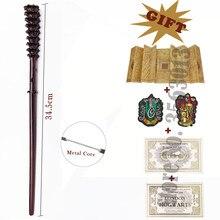Волшебная палочка Fred волшебная палочка Уизли George с металлическим сердечником и картой мародера, 2 билета, надписи гриффиндо слизерии в пода...