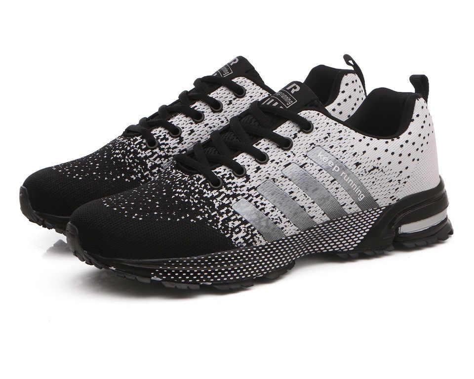 新 2019 男性ランニングシューズ通気性アウトドアスポーツの靴軽量スニーカー女性のための快適な運動トレーニングシューズ