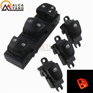Image 3 - 1 Set/4Pcs Rood/Wit/Ijsblauw Licht Voor Nissan Qashqai/Altima/Sylphy/tiida/X Trail Schakelaar Ruitbediening/Single Window Switch