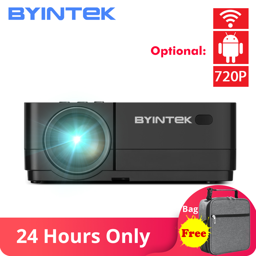 BYINTEK K7 Android Wi-fi Inteligente LED Mini Projetor De Vídeo Portátil HD Para Ipad Iphone Smartphone Tablet Jogo 1080P Casa teatro