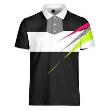 WAMNI 3D рубашка-поло для тенниса, повседневная спортивная линия, Мужская рубашка поло с отложным воротником для бадминтона