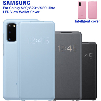 SAMSUNG Original LED View Cover Smart Cover Phone Case for Samsung Galaxy S20 S20PLUS S20 Ultra Sleep Function Card Pocket