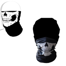 Cycling Face Skull Tubular Mouth Mask Bandana Motorcycle Polyester Scarf Face Neck Warmer Helmet(China)