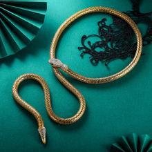 Рождество гот змея ожерелье для женщин Колье чокер ожерелье эстетическое ювелирные изделия звено цепи колье Femme Mujer с утолщённой меховой опушкой, хороший подарок Noel