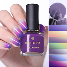 BORN PRETTY 6ml Thermal Color Changing Nail Polish 3 Colors Art Varnish Manicure for Salon Home DIY