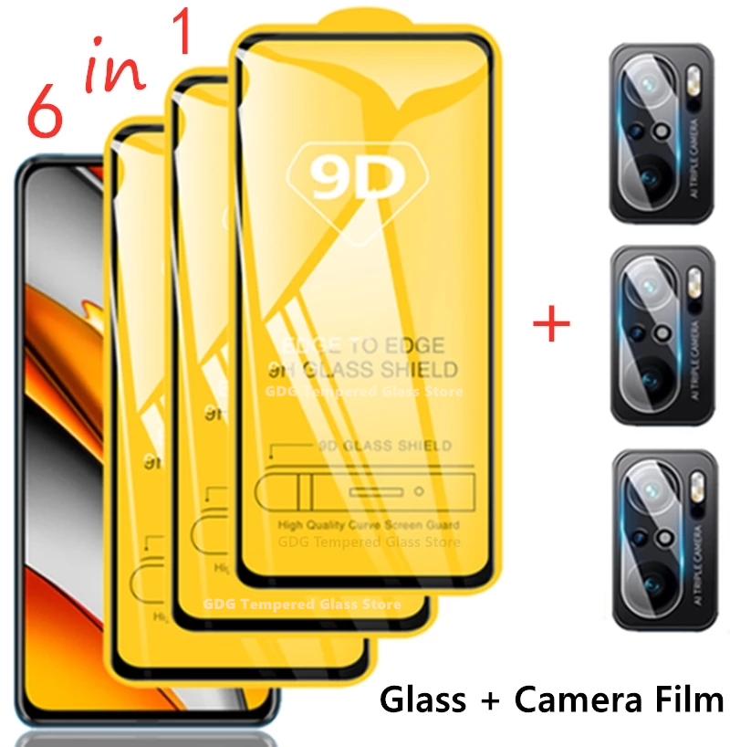 Защитное стекло 9D для экрана и камеры Xiaomi Redmi Note 10, 8, 9 Pro, Note10, 9s, 10s, 5G, Poco X3 Pro, NFC, F3, M3 GT 1
