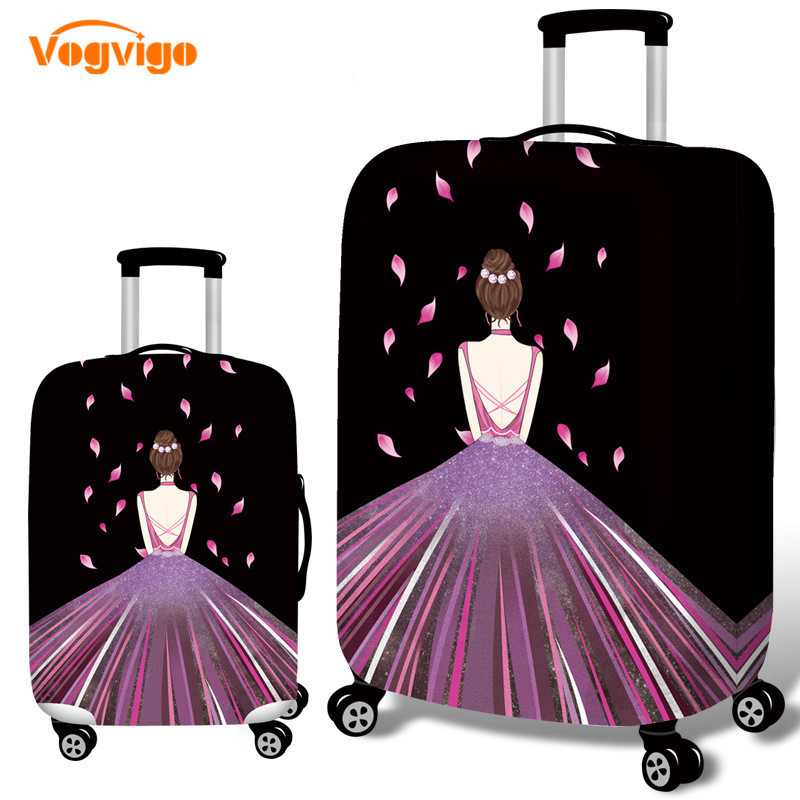 VOGVIGO Travel Thicken Elastic Color Luggage Suitcases Protective Covers For 18-32inches Cases Travel Bagage Cover Accessories