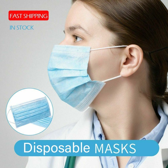 50pcs Anti-Pollution 3 Layers Mask Dust Protection Face Masks Disposable Dust Filter Safety Mask Proof Flu Earloop Face Masks 3