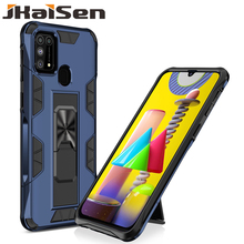 JKaiSen Shockproof Protective Case For Samsung Galaxy M21 M30S M31 Car Holder Kickstand Phone Case For Samsung M51 Back Cover