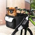 Manubrio della Bicicletta Della Bicicletta Cestino Anteriore Rimovibile Impermeabile Della Bici Del Manubrio Tela Cestino Pet Carrier Borsa Telaio