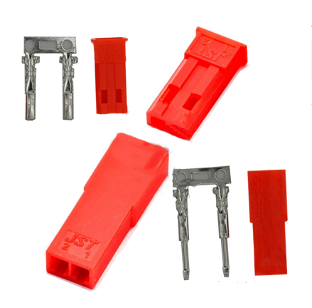 JST plug male/female rubber shell connector plug-in terminal plug 2P SM reed