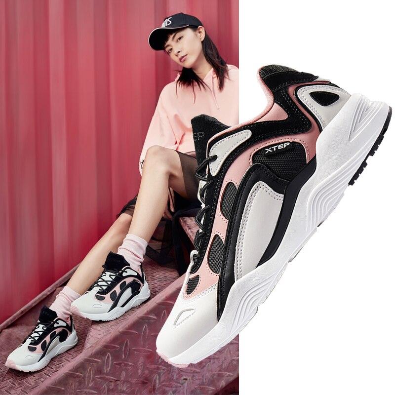 881318329253 Xtep women leisure shoes casual walking female half air cushion shoe