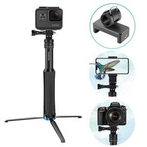 Image 5 - Đa chức năng Toàn Nhôm Đa Năng Chân Máy Cầm Tay Monopod Cho GoPro 7 DJI OSMO Camera Hành Động điện thoại thông minh