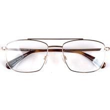 Men rectangle oversized glasses frames spring hinge