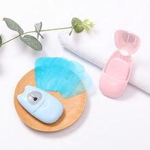 50 pc/caixa handwash sabão de papel viagem portátil lavagem de mão banho sabão descartável higiênico desinfet esterilizar desinfetante sabão