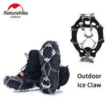 Naturehike kaymaz tırmanma kramponlar Cleats ayakkabı kapak buz tutucu sivri yürüyüş kış manganez çelik açık Cleats ayakkabı
