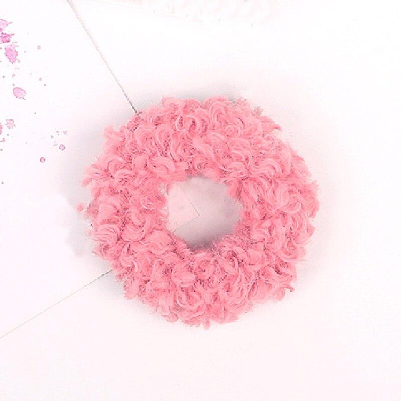 1 мягкий пушистый искусственный мех, пушистый благородный, новинка, шикарные резинки для волос, эластичное кольцо для волос, аксессуары, эластичные розовые резинки для волос - Цвет: Темно-серый