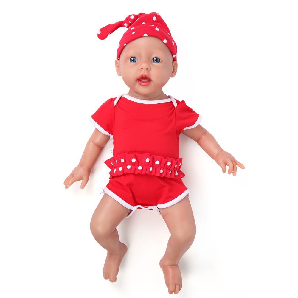 IVITA WG1515 50cm 3960g réaliste yeux bleus Silicone nouveau-né bébés doux réaliste fille jouet bébé Juguetes Poupee Enfant