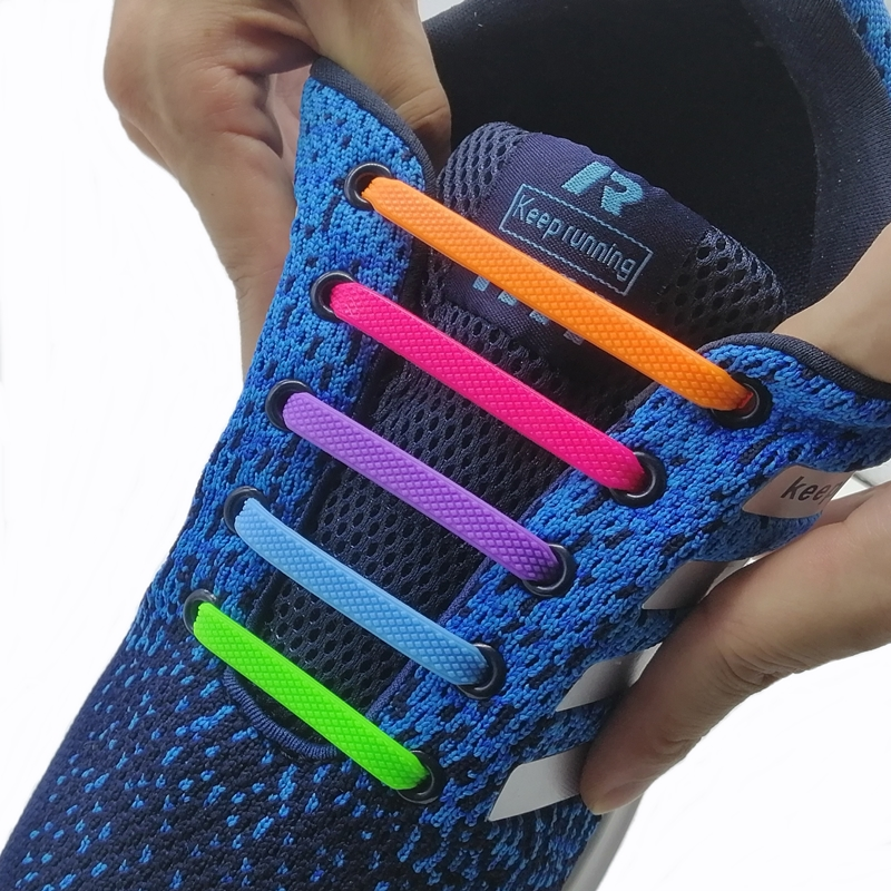 Safe And Pollution Free Running No Tie Shoelaces Fashion Unisex Athletic Elastic Silicone Shoe Lace All Sneakers Fit Strap T104