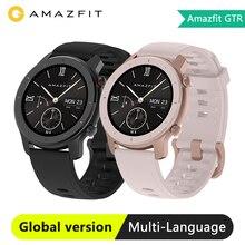Глобальная версия умных часов Amazfit GTR, GPS, 42 мм, 5ATM, водонепроницаемые, с 24 дневной батареей, GPS, умные часы для женщин