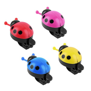 Colorful Plastic Clear Melodious Bell Sound Lovely Kid Beetle Ladybug Ring Bell For Cycling Bicycle Bike Ride Horn Alarm(China)