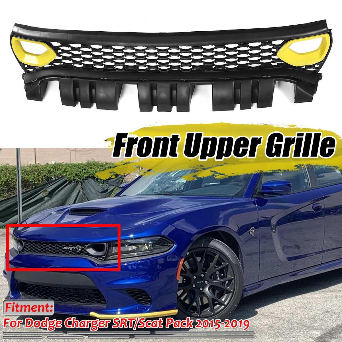 SRT/Scat Pack Style Car Front Bumper Mesh Grille Upper Grill Grille For Dodge For Charger SRT/Scat 2015-2019 In Racing Grills