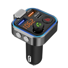 BT23 Dual USB מטען לרכב עם FM משדר Bluetooth לרכב טלפון מטען