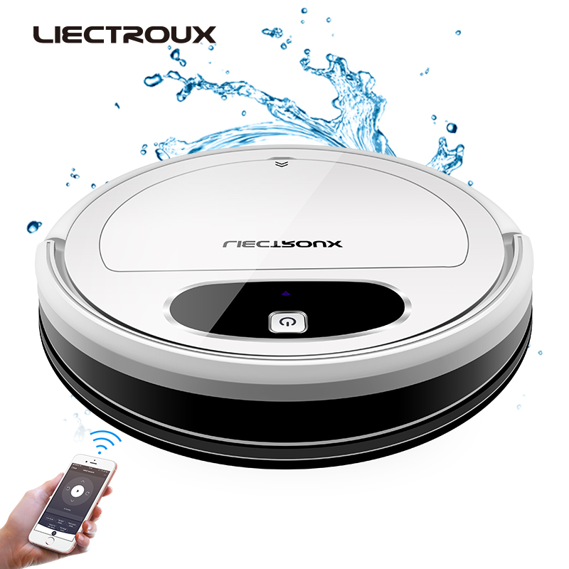 LIECTROUX 11S Liectroux 11S Robot Vacuum Cleaner,WiFi App,Gyroscope & 2D Map Navigation,Electric Control Air Pump Water Tank,Wet