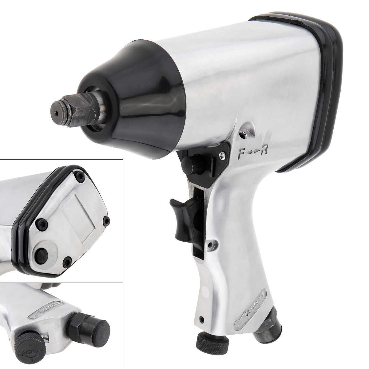 7000rpm Pneumatic Air Wrench Torque Impact Wrench With 1/2 Inch Square Head And Hex Wrench For Car Motorcycle Maintenance