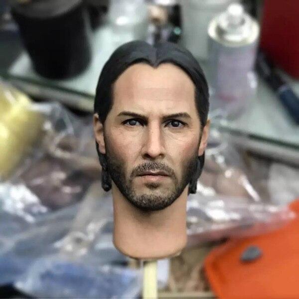 1/6 Keanu Reeves Man Head Toy The Killer John Wick Head Sculpt F 12