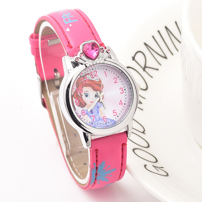 New Arrival Fashion Princess Elsa Child Watch Cartoon Anna Crystal Kids Watch For Girls Student Children Gift Watches Relogio
