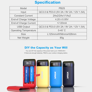 Image 2 - XTAR PB2S USB Charger With Power Bank Portable Charger TypeC Input QC3.0 Fast Charging 18700 20700 21700 Battery Charger 18650