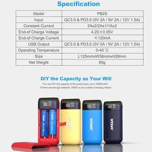 Image 2 - Зарядное устройство XTAR PB2S с USB, портативное зарядное устройство, вход Type C, быстрая зарядка QC3.0, 18700, 20700, 21700, зарядное устройство для аккумуляторов 18650
