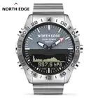 Мужские спортивные часы NORTH EDGE, альтиметр, барометр, компас, термометр, шагомер, измеритель глубины калорий, цифровые часы для бега, скалолаз...