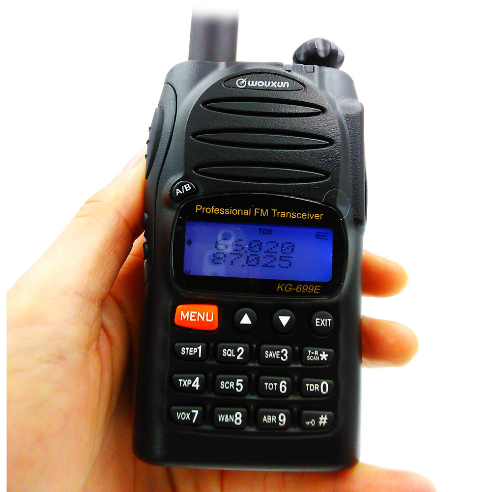 IP55 Waterproof Walky Talky Professional Wouxun KG-699E 66-88MHZ High Power Handheld Two Way Radio LCD Display Walkie Talkie