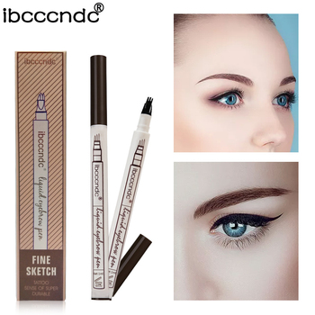 3 Colors Microblading Eyebrow Tattoo Pen Fine Sketch Liquid Eyebrow Pen Waterproof Tattoo Durable Eye Brow Pencil Smudge-proof